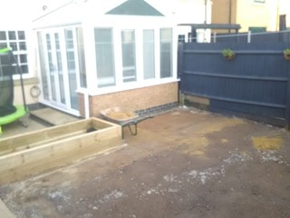before landscape and artificial grass