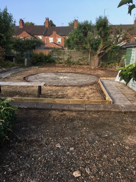 Before Kettering Landscaping Project started