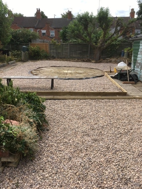 During the Garden Landscape project in Kettering