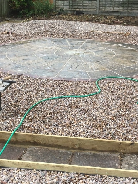 Stone patio hardscaping in Kettering